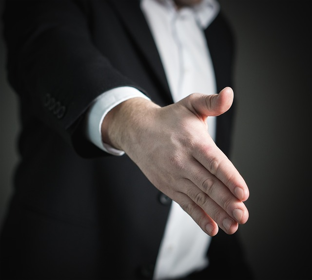 natažená ruka