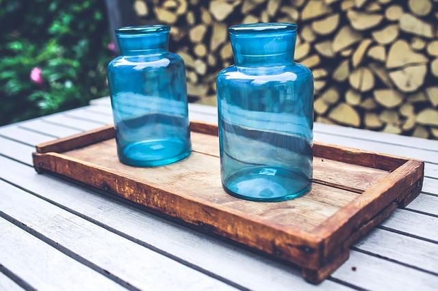 sklenice klíčící