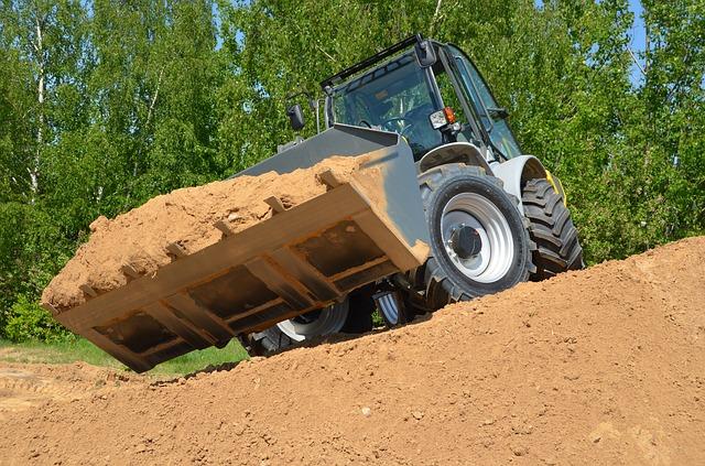 naložený buldozer