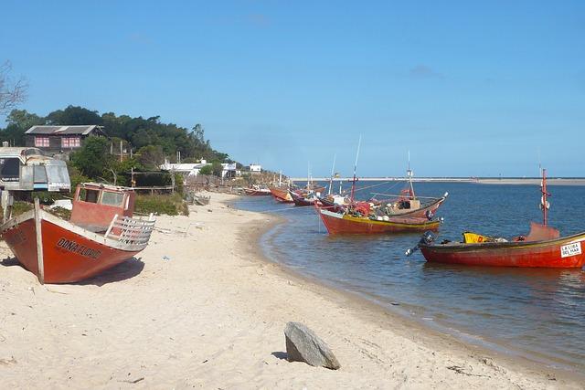 Uruguay, loďky, Atlantiku
