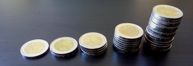 euro mince v 5 komíncích