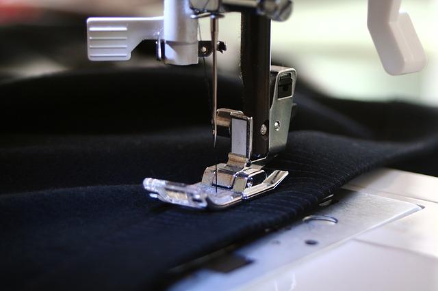 Detail patky šicího stroje